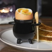 Cauldron Egg Cup & Broom