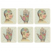 Phrenology Coaster Set