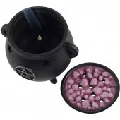 Pentagram Cauldron Incense Burner