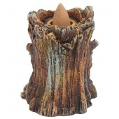 Aged Oak Tree Backflow Incense Burner