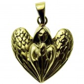 Praying Angel Bronze Pendant