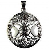 Silver Goddess Tree Pendant