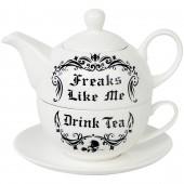 Freaks Like Me Tea Set
