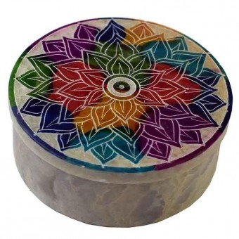 Phoenixx Rising-Mandala Soapstone Box