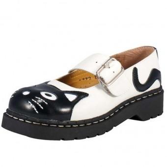 T.U.K. Footwear-Kitty Brogue Mary Jane Shoes