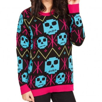 Flip Flop And Fangs-Snowflake Zombie Jumper