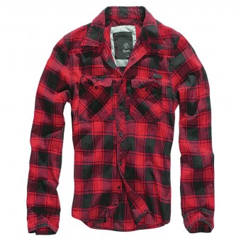 Black Red Check Shirt