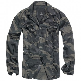 Brandit-Dark Camo Slim Shirt