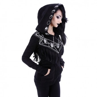 Moon Geometry Hooded Top