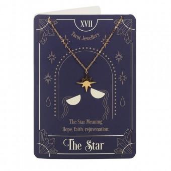 Phoenixx Rising-The Star Tarot Necklace Card
