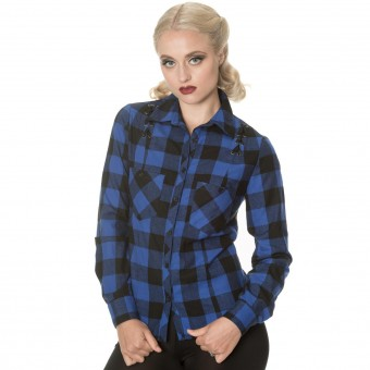 Blue Breaking Rules Check Shirt