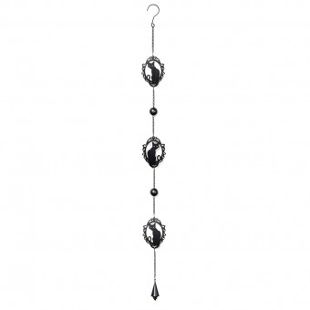 Alchemy Gothic-Cat Silhouette Hanging Decoration