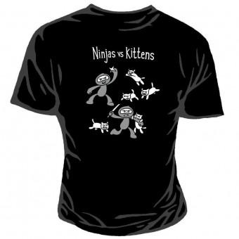 Genki Gear-Ninja Vs Kittens T-shirt
