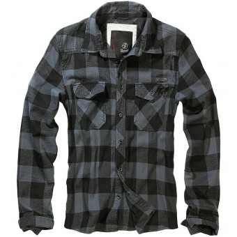 Brandit-Black Grey Check Shirt