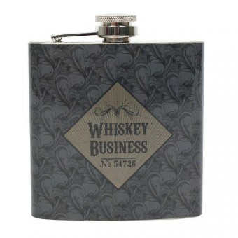 -Whiskey Business Hip Flask