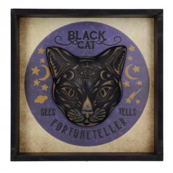 -Black Cat Fortune Teller Plaque