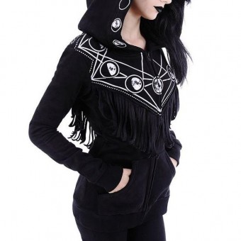 Restyle-Moon Geometry Hooded Top