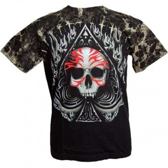 Cleo Gifts-Skull Spade T-shirt