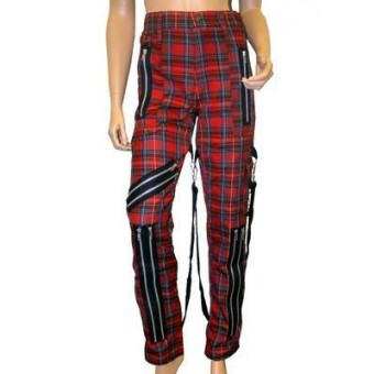 Phaze Clothing-Tartan Bondage Trousers