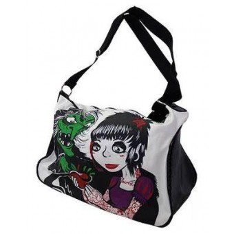 Darkside Clothing-Hag and Apple Snow Luggage Bag