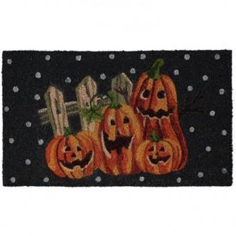 -Laughing Pumpkin Doormat