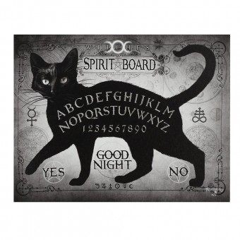Alchemy Gothic-Black Cat Spirit Board Canvas