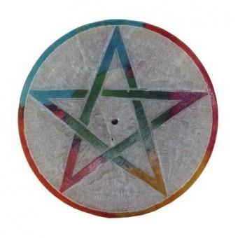 Phoenixx Rising-Pentagram Soapstone Incense Holder