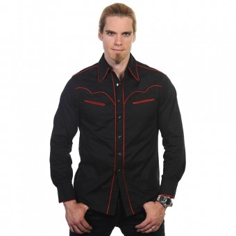 Western Red Trim Shirt