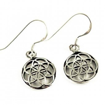 Cleo Gifts-Flower Web Of Life Earrings
