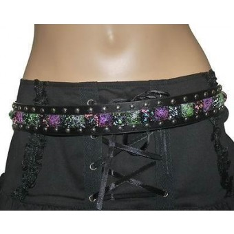 Cleo Gifts-Graffiti Pyramid Stud Belt