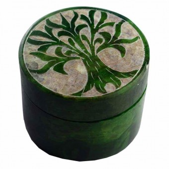 Tree Of Life Soapstone Box