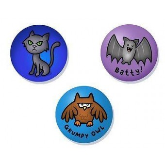 Genki Gear-Night Animals Badge Set