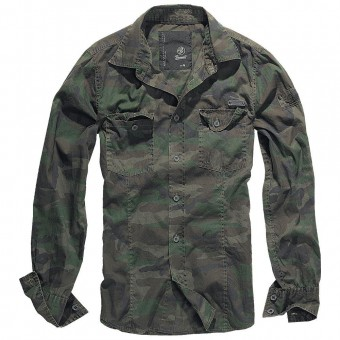 Woodland Camo Slim Shirt