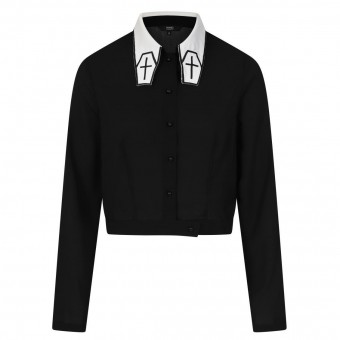Banned Apparel-Undertaker Coffin Blouse