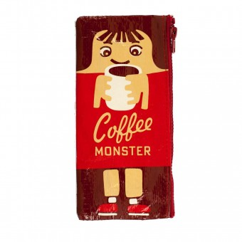 Blue Q-Coffee Monster Pencil Case