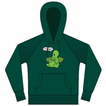 Cutethulhu Hooded Top in green