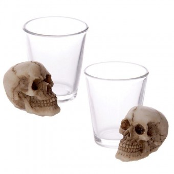 Shot Glass with Skull
