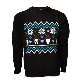 Darkside Clothing-Fair Isle Skull Jumper