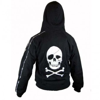 Phoenixx Rising-Pirate Skull Hooded Top