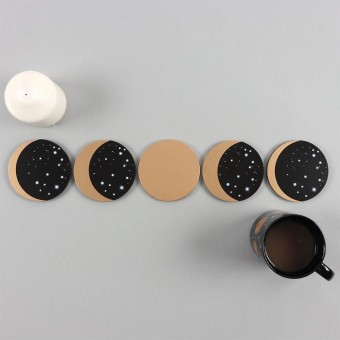 Moon Phases Coasters