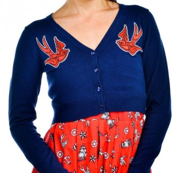 Too Fast-Swallows Anchors Cardigan