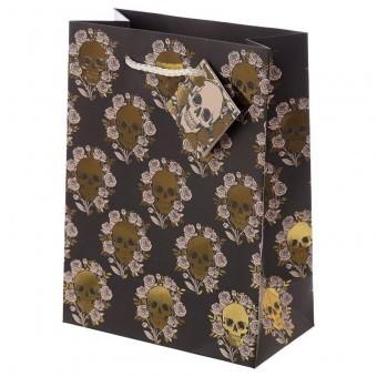 -Skulls Roses Gift Bag