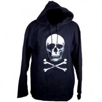 -Skull Hooded Top