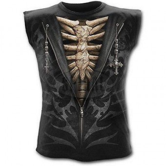 Spiral Direct-Unzipped Skeleton Vest