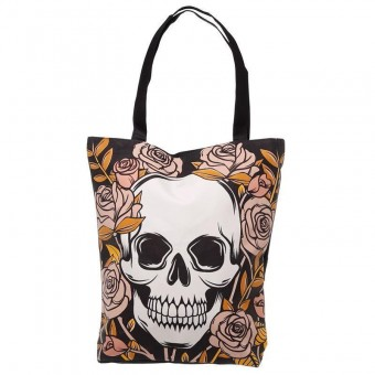 Something Different-Skulls Roses Shopping Bag