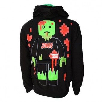 Darkside Clothing-8 Bit Zombie Lego Hooded Top