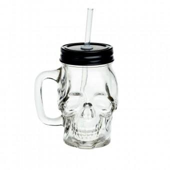 Alchemy Gothic-Skull Glass Drinking Jar