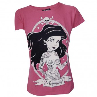 Darkside Clothing-Tattooed Little Mermaid T-shirt