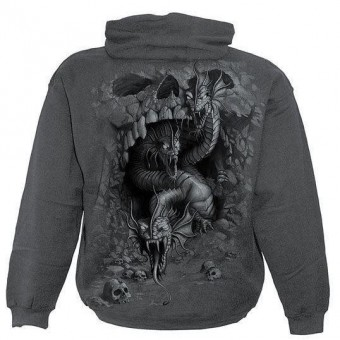 Spiral Direct-Hydra Skull Hooded Top