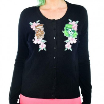 Too Fast-Zombie Tiki God Cardigan